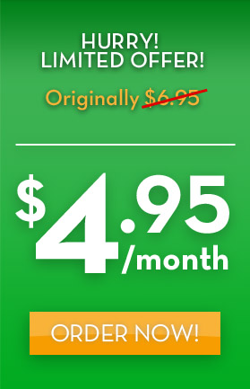Unlimited Green Web hosting only $4.95! Hurry! Limited offer! Use code: et495